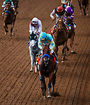 September 27 2014: American Pharoah with Victor Espinoza up wins the Frontrunner Stakes at Santa Anita Park in Arcadia CA. Alex Evers/ESW/CSM