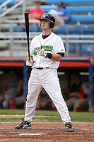 September 6 2008:  Jeremy Synan of the Jamestown Jammers, Class-A affiliate of the Florida Marlins, during a game at Russell Diethrick in Jamestown, NY.  Photo by:  Mike Janes/Four Seam Images