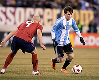 Lionel Messi, Michael Bradley. The USMNT tied Argentina, 1-1, at the New Meadowlands Stadium in East Rutherford, NJ.