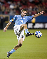 North Carolina forward Brian Shriver (31).  North Carolina Tar Heels defeated Wake Forest Demon Deacons 1-0 in the semifinal match of the NCAA Men's College Cup at Pizza Hut Park in Frisco, TX on December 12, 2008.  Photo by Wendy Larsen/isiphotos.com