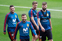 Spain's Koke Resurreccion, Jordi Alba, Nacho Monreal and Gerard Pique during training session. May 29,2018.(ALTERPHOTOS/Acero) /NortePhoto.com