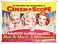 BNPS.co.uk (01202) 558833. <br /> Pic: Ewbank'sAuctions/BNPS<br /> <br /> Pictured: This poster for How to Marry A Millionaire sold for £2,250. <br /> <br /> A selection of classic horror and sci-fi film posters have sold for £85,000.<br /> <br /> The marquee lot was a British quad 30ins by 40ins poster for Forbidden Planet which fetched £12,000, three times its estimate.<br /> <br /> It features the memorable first image of Robby the Robot holding a damsel in distress.<br /> <br /> A poster promoting the Christopher Lee film Dr Terror's House of Horrors (1965) also outperformed expectations, selling for £2,750, while one advertising the first Star Wars film (1977) fetched £4,750.<br /> <br /> The posters, which were consigned by different collectors, sparked a bidding war with Ewbank's Auctions, of Woking, Surrey.