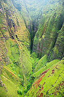 Honopu Valley, Na Pali coast, Kauai, Hawaii, Pacific Ocean