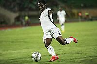 Ghana's Emanuel Agyemang-Badu (8) take the ball toward the South Korean Goal during the FIFA Under 20 World Cup Quarter-final match between Ghana and South Korea at the Mubarak Stadium  in Suez, Egypt, on October 09, 2009.
