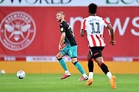 Mike van der Hoorn of Swansea City in action during the Sky Bet Championship Play Off Semi-final 2nd Leg between Brentford and Swansea City at Griffin Park in Brentford, England, UK. 29th July, 2020