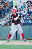 Connor Panas (12) of the Vancouver Canadians at bat during a game against the Everett Aquasox at Everett Memorial Stadium in Everett, Washington on July 16, 2015.  Vancouver defeated Everett 5-4. (Ronnie Allen/Four Seam Images)