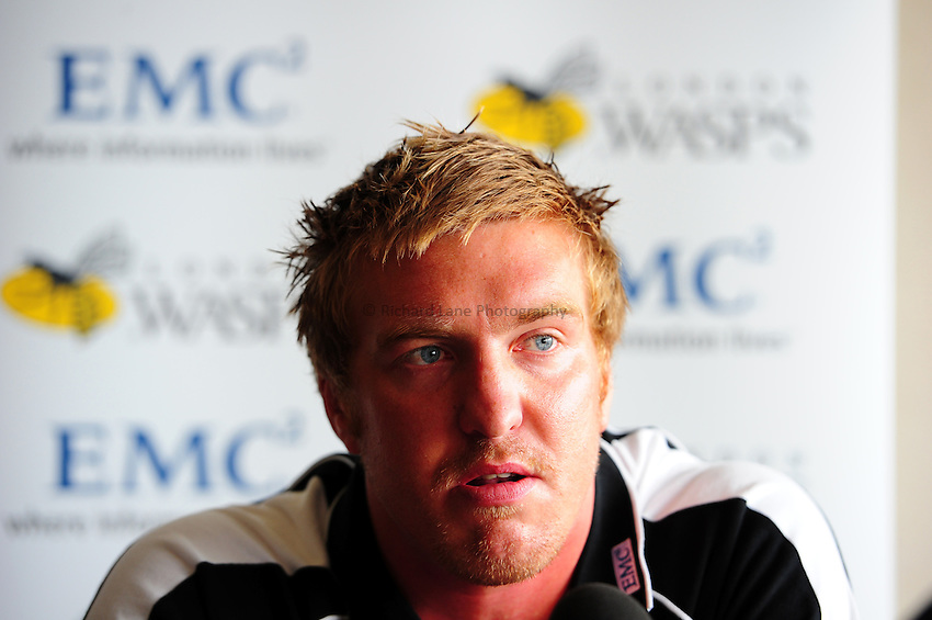 Photo: Richard Lane/Richard Lane Photography. Aviva Premiership Rugby. Britsh and Irish Lions and Welsh International, Andy Powell signs for London Wasps. 13/07/2010.
