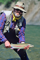 Rainbow trout on Talachulitna River, Alaska.