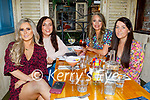 Michelle Young from Kilflynn celebrating her 30th birthday in Benners on Friday, l to r: Michelle Young, Sarah O'Sullivan, Ashling Quirke and Eilish O'Dowd.