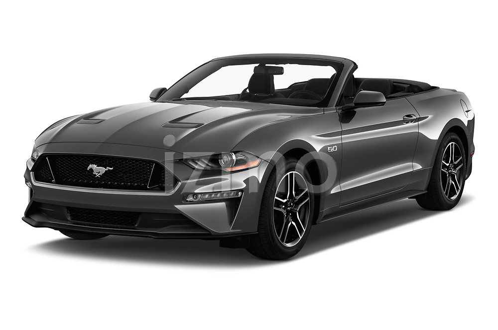 2020 Ford Mustang GT Premium 2 Door Convertible angular front stock photos of front three quarter view