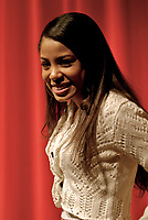 March 5,2007, Toronto (ON), CANADA<br /> <br /> As part of a speaking tour visiting 8 high<br /> schools across the country, Canadian R&B singer Keshia Chante  talk to teens about how music has positively influenced her life , Monday March 5 at the Harbord Collegiate Institute   in    Toronto, Canada.<br /> <br /> Photo : (c) 2007 <br /> Richard Yagutilov-  Images Distribution