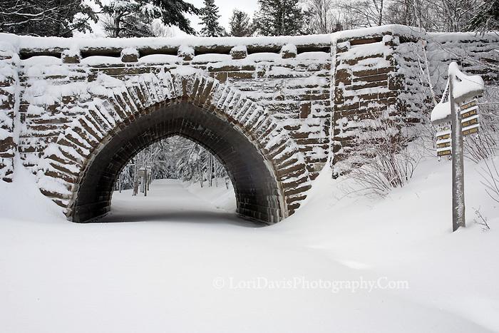 Winter at Eagle Lake Bridge #A25