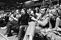 1978,Netherlands,ABN tennis Tournament, Rotterdam,Vip tribune with Andre vd Louw