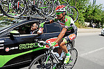 Sergiy Grechyn (UKR) Torku Sekerspor at the team car during Stage 6 of the 2015 Presidential Tour of Turkey running 184km from Denizli to Selcuk. 30th April 2015.<br /> Photo: Tour of Turkey/Mario Stiehl/www.newsfile.ie