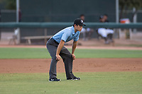 Field umpire Shin Koishizawa during an Arizona League game between the AZL White Sox and the AZL Mariners at Camelback Ranch on July 8, 2018 in Glendale, Arizona. The AZL White Sox defeated the AZL Mariners 8-5. (Zachary Lucy/Four Seam Images)