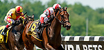 June 5, 2021: Search Results, #6, ridden by Javier Castellano, wins the Acorn Stakes on Belmont Stakes Day at the Belmont Stakes Festival at Belmont Park in Elmont, New York. Dan Heary/Eclipse Sportswire/CSM