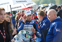 Peter Hickman of Smiths Racing on the grid for race two of the MCE British Superbikes in Association with Pirelli round 12 2017 - BRANDS HATCH (GP) at Brands Hatch, Longfield, England on 15 October 2017. Photo by Alan  Stanford / PRiME Media Images.