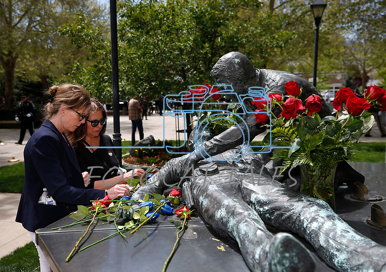 Images from the annual Nevada Law Enforcement Officers Memorial ceremony, in Carson City Nev., on Thursday, May 6, 2021.<br /> Photo by Cathleen Allison