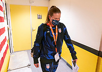 BREDA, NETHERLANDS - NOVEMBER 27: Alyssa Naeher #1 of the USWNT arrives at the stadium before a game between Netherlands and USWNT at Rat Verlegh Stadion on November 27, 2020 in Breda, Netherlands.