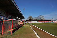 General view of the ground ahead of kick-off - Stevenage vs Newport County - Sky Bet League Two Football at the Lamex Stadium, Broadhall Way, Stevenage - 07/03/15 - MANDATORY CREDIT: Gavin Ellis/TGSPHOTO - Self billing applies where appropriate - contact@tgsphoto.co.uk - NO UNPAID USE