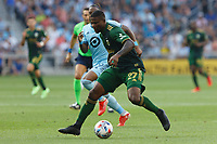 ST PAUL, MN - JULY 24: Dairon Asprilla #27 of the Portland Timbers during a game between Portland Timbers and Minnesota United FC at Allianz Field on July 24, 2021 in St Paul, Minnesota.