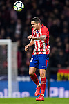 Victor Machin, Vitolo, of Atletico de Madrid heads the ball during the La Liga 2017-18 match between Atletico de Madrid and CD Leganes at Wanda Metropolitano on February 28 2018 in Madrid, Spain. Photo by Diego Souto / Power Sport Images