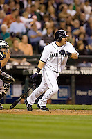 July 5, 2008: The Seattle Mariners' Jose Vidro at-bat during a game against the Detroit Tigers at Safeco Field in Seattle, Washington.