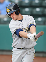 May 28, 2009: Infielder David Adams (29) of the Charleston RiverDogs, Class A affiliate of the New York Yankees, in a game against the Greenville Drive at Fluor Field at the West End in Greenville, S.C. Photo by: Tom Priddy/Four Seam Images