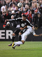 DC United midfielder Santino Quaranta (25).  DC United tied Los Angeles Galaxy 1-1, at RFK Stadium, Saturday April 9, 2011.