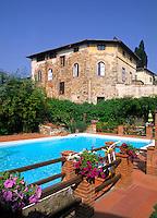 Beautiful villa at Hotel Greve and vineyard in romantic Tuscany in Greve in Chianti Ital