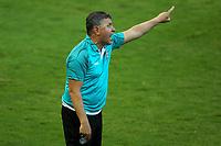 16th November 2020; Couto Pereira Stadium, Curitiba, Brazil; Brazilian Serie A, Coritiba versus Bahia; Coritiba manager Pachequinho sends in instructions
