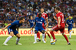 Bayern Munich Midfielder Franck Ribery (R) in action against Chelsea Defender Cesar Azpilicueta (L) during the International Champions Cup match between Chelsea FC and FC Bayern Munich at National Stadium on July 25, 2017 in Singapore. Photo by Marcio Rodrigo Machado / Power Sport Images