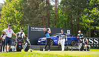 General view at hole 14 where a BMW M5 sits as a hole in one prize during Practice Day at BMW PGA Championship Wentworth Golf at Wentworth Drive, Virginia Water, England on 22 May 2018. Photo by Andy Rowland.