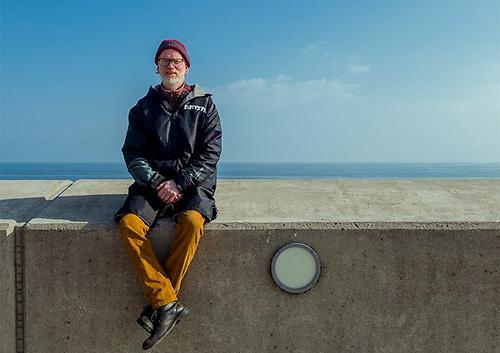 The Sea app developer Peter O'Brien in Greystones, Co Wicklow