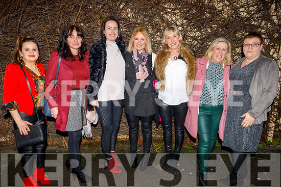 Sinead Morrissey, Maureen Foley, Sinead Herve, Michelle Greaney, Mary O'Regan, Mary and Marie O'Connor enjoying the evening in Cassidys Tralee on Saturday.