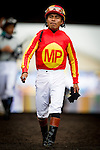 August  02 2014: Jockey, Martin Garcia at the G1 Clement L. Hirsch Stakes at Del Mar Race Track in Del Mar CA. Alex Evers/ESW/CSM