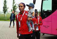 Sandefjord, Norway - June 11, 2017: Sydney Leroux and son prior to their game versus Norway in an international friendly at Komplett Arena.