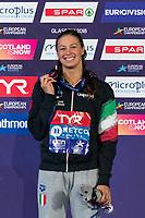 CASTIGLIONIArianna ITA Bronze Medal<br /> 50m Breaststroke Women Final<br /> Glasgow 09/08/2018<br /> Swimming Tollcross International Swimming Centre<br /> LEN European Aquatics Championships 2018 <br /> European Championships 2018 <br /> Photo Giorgio Scala/ Deepbluemedia /Insidefoto