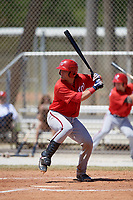 Washington Nationals Taylor Gushue (27) at bat during a minor league Spring Training game against the St. Louis Cardinals on March 27, 2017 at the Roger Dean Stadium Complex in Jupiter, Florida.  (Mike Janes/Four Seam Images)