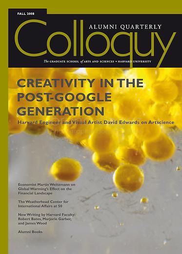 "USA, Boston, October 2008..Article in Colloquy, the magazine of Harvard University..USA, Boston, October 2008..Article ""Creativity in the post-google generation"" publié dans Colloquy, le magazine de l'université de Harvard..© Bruno Cogez"