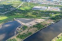 Kreetsand: EUROPA, DEUTSCHLAND, HAMBURG 23.05.2021: Tiedeelbe Konzept Kreetsand, Hamburg Port Authority (HPA), soll auf der Ostseite der Elbinsel Wilhelmsburg zusaetzlichen Flutraum für die Elbe schaffen. Das Tidevolumen wird durch diese strombauliche Massnahme vergroessert und der Tidehub reduziert. Gleichzeitig ergeben sich neue Moeglichkeiten für eine integrative Planung und Umsetzung verschiedenster Interessen und Belange aus Hochwasserschutz, Hafennutzung, Wasserwirtschaft, Naturschutz und Naherholung.