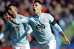 Celta de Vigo's Hugo Mallo celebrates disallowed goal  during La Liga match. February 09,2019. (ALTERPHOTOS/Alconada)
