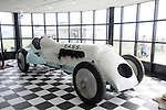 Pendine Sands - UK - 7th September 2013 :                                                                                      Babs the speed machine in a museum at Pendine. It was following a terrible accident in 1927 when Parry Thomas was decapitated that racing at Pendine Sands was called to a halt.
