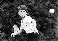 Richard Krajicek in de NK jeugd 1983