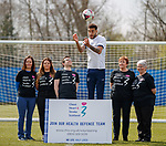 11.04.2019 Rangers player Connor Goldson teams up with Chest Heart and Stroke Scotland to defend Scots health. Connor is with Joanna Teece, Lauren MacKenzie, Lawrence Cowan, Lesley Kane and Kathleen Frew to promote the Health Defence project