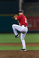 Fort Wayne TinCaps relief pitcher Jose Quezada (21) during a Midwest League game against the Fort Wayne TinCaps at Parkview Field on April 30, 2019 in Fort Wayne, Indiana. Kane County defeated Fort Wayne 7-4. (Zachary Lucy/Four Seam Images)