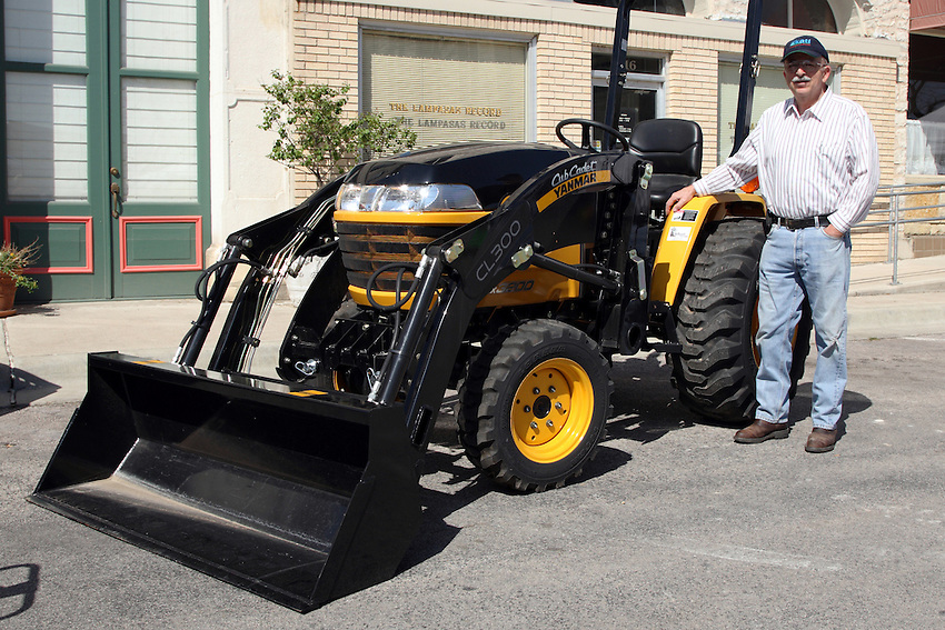 New tractor on display at the Courthouse Square.