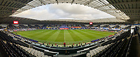 SWANSEA, WALES - NOVEMBER 12: Field before the international friendly match between Wales and the USA at Liberty Stadium on November 12, 2020 in Swansea, Wales.