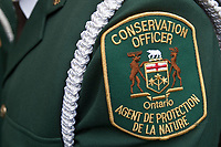 Ontario Conservation Officer badge is seen during a police memorial parade in Ottawa Sunday September 26, 2010.
