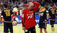 Sierra Jose Manuel during men`s EHF EURO 2012 championship semifinal handball game between Denmark and Spain in Belgrade, Serbia, Friday, January 27, 2011.  (photo: Pedja Milosavljevic / thepedja@gmail.com / +381641260959)
